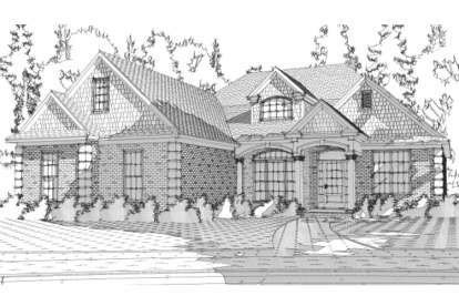 4 Bed, 3 Bath, 1922 Square Foot House Plan - #1070-00024