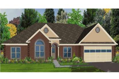 4 Bed, 2 Bath, 1880 Square Foot House Plan - #1070-00033