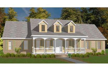 5 Bed, 3 Bath, 2773 Square Foot House Plan - #1070-00044