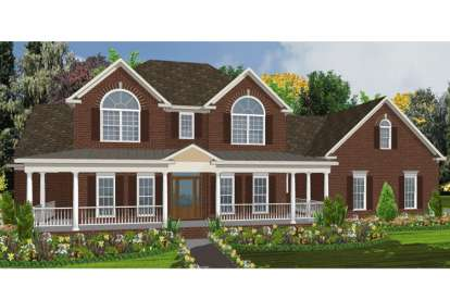 5 Bed, 3 Bath, 2859 Square Foot House Plan #1070-00051