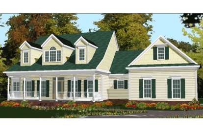 5 Bed, 3 Bath, 2694 Square Foot House Plan - #1070-00052