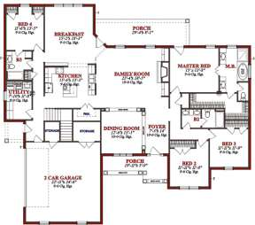 Floorplan 1 for House Plan #1070-00076