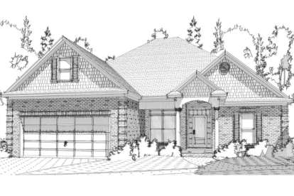 4 Bed, 2 Bath, 1797 Square Foot House Plan - #1070-00086
