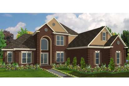 5 Bed, 4 Bath, 3131 Square Foot House Plan - #1070-00106
