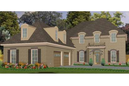 5 Bed, 3 Bath, 3145 Square Foot House Plan - #1070-00107