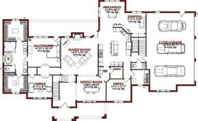 Floorplan 1 for House Plan #1070-00132