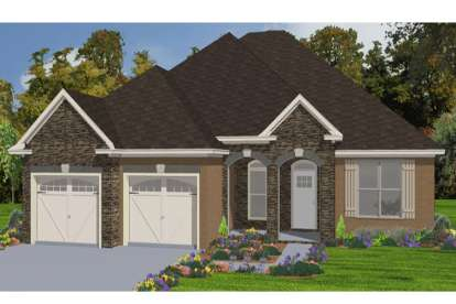 4 Bed, 2 Bath, 2099 Square Foot House Plan - #1070-00135