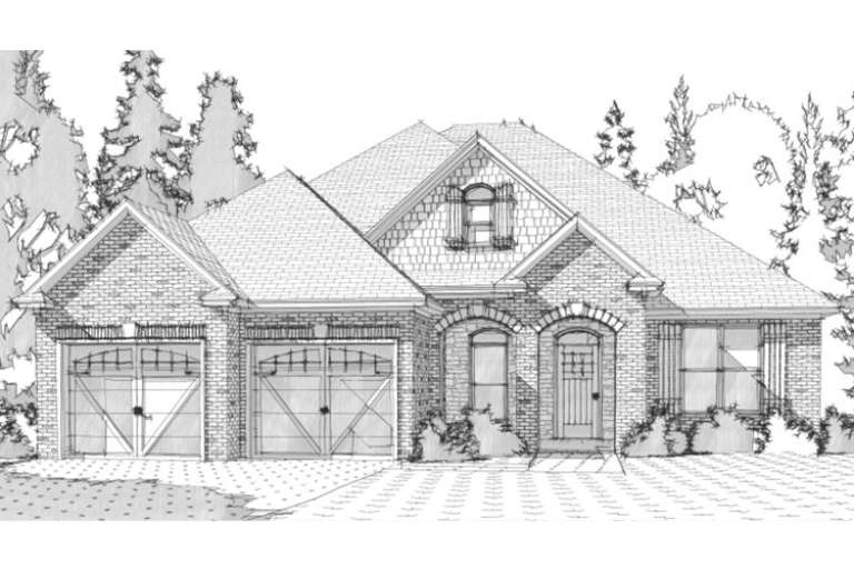 French Country House Plan #1070-00136 Elevation Photo