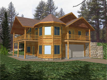 2 Bed, 2 Bath, 2084 Square Foot House Plan - #039-00269