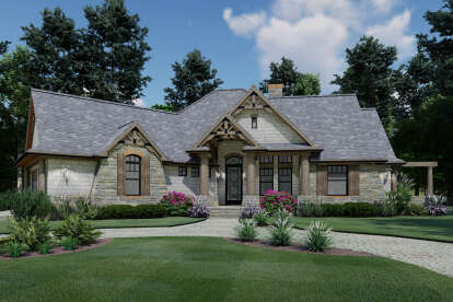 3 Bed, 2 Bath, 1848 Square Foot House Plan #9401-00014