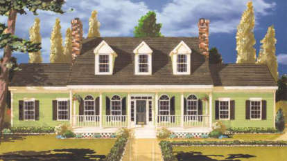 5 Bed, 2 Bath, 2499 Square Foot House Plan - #033-00013