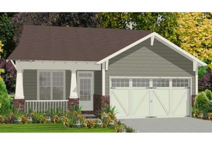 2 Bed, 2 Bath, 1390 Square Foot House Plan - #1070-00172