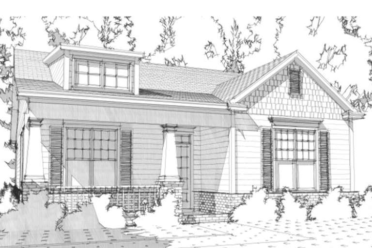 Bungalow  House Plan #1070-00173 Elevation Photo