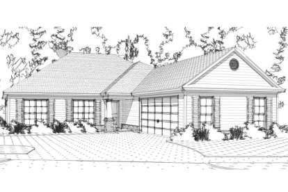 4 Bed, 2 Bath, 1850 Square Foot House Plan - #1070-00204