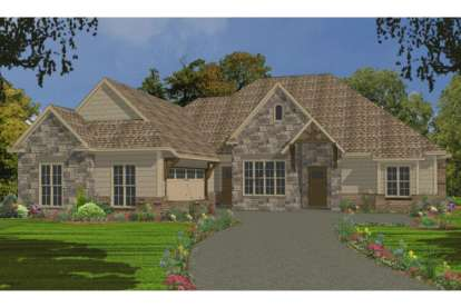4 Bed, 2 Bath, 2414 Square Foot House Plan - #1070-00208