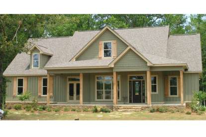 4 Bed, 3 Bath, 2456 Square Foot House Plan #1070-00210