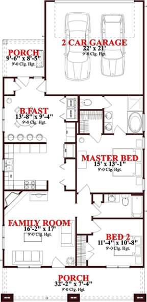 Floorplan 1 for House Plan #1070-00213