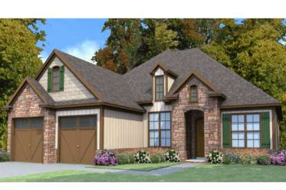 4 Bed, 2 Bath, 2064 Square Foot House Plan - #1070-00225