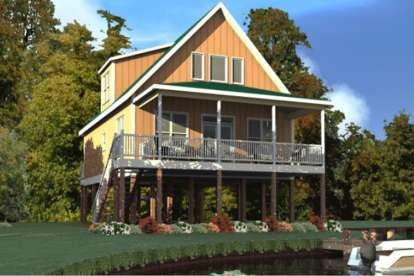 2 Bed, 2 Bath, 1536 Square Foot House Plan - #1070-00236