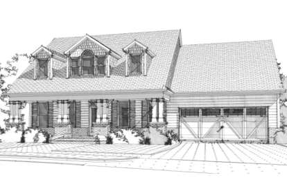 5 Bed, 3 Bath, 2712 Square Foot House Plan - #1070-00241
