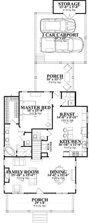 Floorplan 1 for House Plan #1070-00247