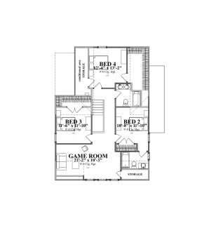 Floorplan 2 for House Plan #1070-00247