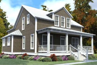 4 Bed, 3 Bath, 2713 Square Foot House Plan #1070-00248