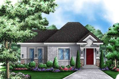 1 Bed, 1 Bath, 717 Square Foot House Plan - #1018-00001