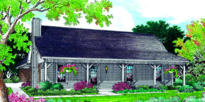 3 Bed, 2 Bath, 1244 Square Foot House Plan #048-00041