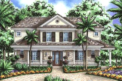 3 Bed, 3 Bath, 2557 Square Foot House Plan - #1018-00027