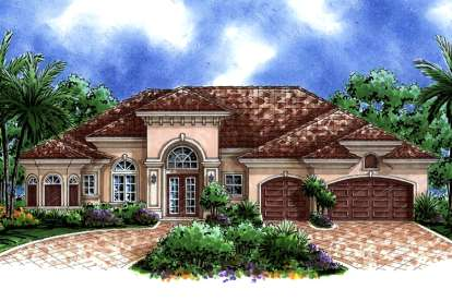 3 Bed, 3 Bath, 2660 Square Foot House Plan - #1018-00033