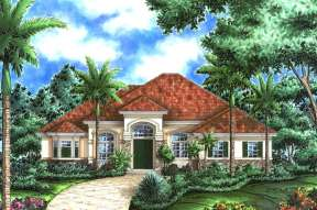 Mediterranean House Plan #1018-00054 Elevation Photo