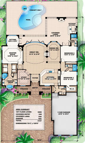 Main Floor for House Plan #1018-00054