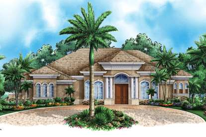 3 Bed, 3 Bath, 3218 Square Foot House Plan - #1018-00062