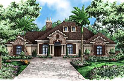 3 Bed, 3 Bath, 3242 Square Foot House Plan - #1018-00064