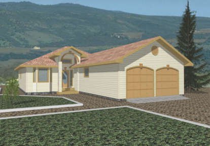 2 Bed, 2 Bath, 1607 Square Foot House Plan - #039-00280