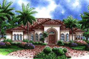 Mediterranean House Plan #1018-00068 Elevation Photo