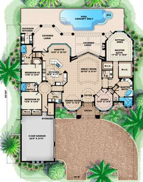 Floorplan 1 for House Plan #1018-00068