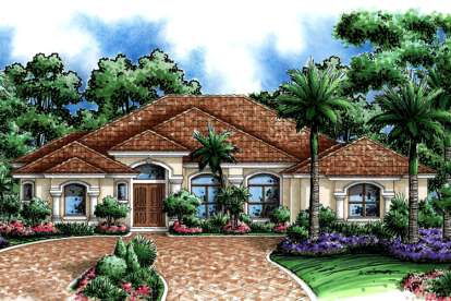 5 Bed, 3 Bath, 3447 Square Foot House Plan - #1018-00077