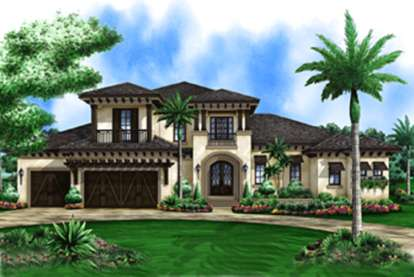4 Bed, 4 Bath, 3469 Square Foot House Plan #1018-00079