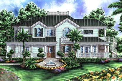 3 Bed, 4 Bath, 3522 Square Foot House Plan - #1018-00085