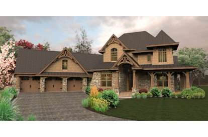 3 Bed, 4 Bath, 3069 Square Foot House Plan - #9401-00028