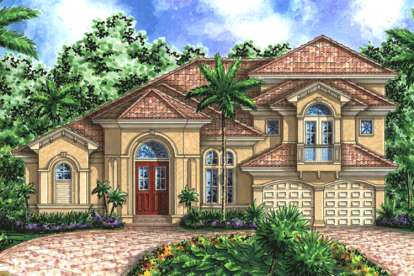 5 Bed, 4 Bath, 3676 Square Foot House Plan - #1018-00095