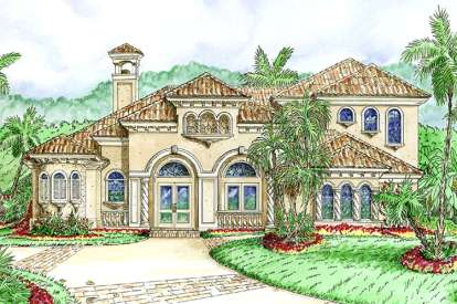 3 Bed, 3 Bath, 3810 Square Foot House Plan - #1018-00103