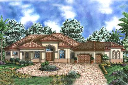 3 Bed, 4 Bath, 4058 Square Foot House Plan - #1018-00112