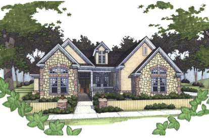 3 Bed, 2 Bath, 1779 Square Foot House Plan - #9401-00034