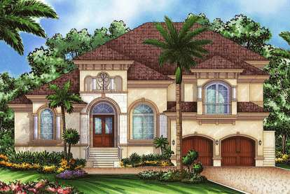 4 Bed, 4 Bath, 4302 Square Foot House Plan - #1018-00128