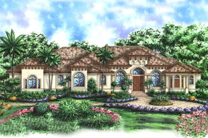 4 Bed, 4 Bath, 4354 Square Foot House Plan #1018-00130