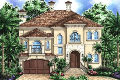 4 Bed, 3 Bath, 4370 Square Foot House Plan - #1018-00131