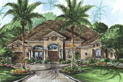 3 Bed, 4 Bath, 4378 Square Foot House Plan - #1018-00132